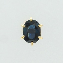 K18 18-karat gold YG yellow gold pierced earrings (one ear) sapphire used jewelry ★★ giftwrapping for free