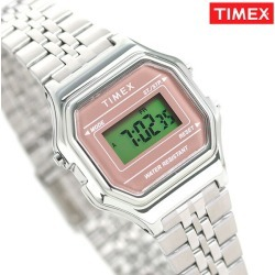 Timex watch lady's digital stopwatch TW2T48500 TIMEX clock silver