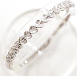 K14 14-karat gold WG white gold bracelet diamond used jewelry ★★ giftwrapping for free