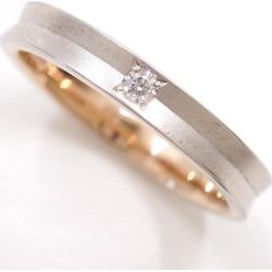 ウィスプ PT900 K18PG ring 5 diamond 0.03 used jewelry ★★ giftwrapping for free