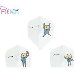 D.CRAFT Fit Flight Office worker Cat shape white (dart flight)