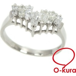 Deep-discount pawnshop exemption from taxation A2172207 having V-shaped diamond ring Lady's Pt850 15 1.00ct 3.5 g platinum diagram ring