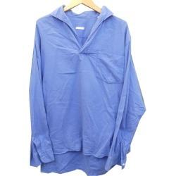 COMOLI 16AW cotton skipper shirt sax size: 1 (Komori)