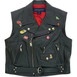 Super beautiful article, Louis Vuitton riders best pin batch tops /1A3VCY/40/ black X red /LOUIS VUITTON ■ 290640