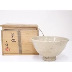 江崎一生造井戸茶碗 [Japanese dishes / Matcha porcelain bowl / Matcha bowl / tea ceremony / tea set / tea service set / curio / tea]