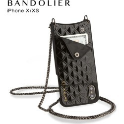 Band re-yeah BANDOLIER iPhone XS X case smartphone carrying eyephone leather SHEILA BLACK men gap Dis black black 10SHE