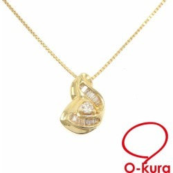 Jewelry Japanese cypress diamond necklace Lady's K18YG 0.33ct 6.7 g JEWELRY MAKI 18-karat gold yellow gold 750 diagram deep-discount pawnshop exemption from taxation A6024396
