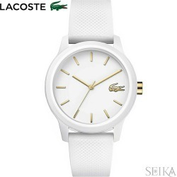 The watch that Lacoste LACOSTE 12.12 2001063 (173) clock watch Lady's white rubber is white