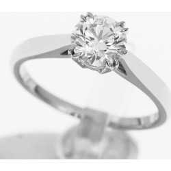 HARRY WINSTON Harry Dai Winston-ya (D0.70ct E-VS2-EX) round solitaire ring Pt950 platinum Japan size approximately nine #49 GIA appraisal ring Lady's 30871204