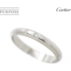 Cartier Cartier classical music diamond 1P #48 ring Pt950 platinum 2.6mm in width 1895 diagram ring