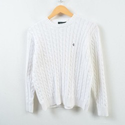 Ralph Lauren Ralph Lauren LAUREN Lauren cable knitting cotton knit sweater Lady's L /wbb4413