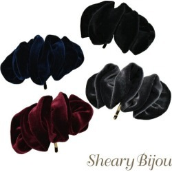 Hair hook pony hook velvet velour hair accessories lady's refined Shin pull adult woman daily date office event in the fall and winter