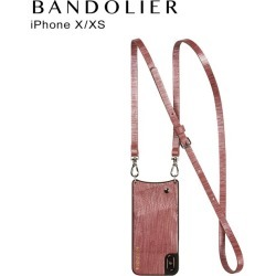 Band re-yeah BANDOLIER iPhone XS X case smartphone carrying eyephone leather EMMA ROSE WAVE men gap Dis wine red 10EMM [7/30 reentry load]
