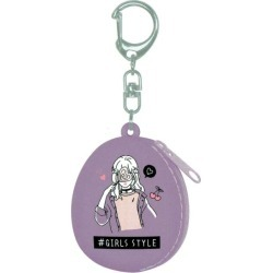 Fancy miscellaneous goods silicon petit case key ring GIRLS STYLE 323598
