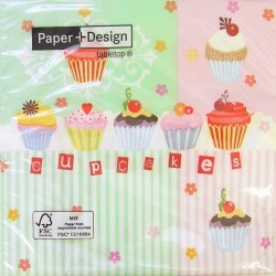 Paper Towel Cupcakes Pastel 20 Sheets With Paper Designs Decoupage And found on Bargain Bro India from Rakuten Global for $4.00