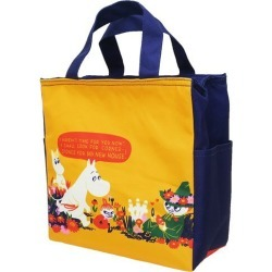 To field of flowers Mumin thermal insulation cold storage lunch bag North Europe Small planet 24*24*11cm lunch bag teens miscellaneous goods mail order marshmallow pop 10/29