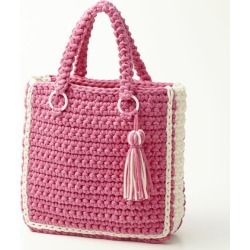 By color tote bag BA19S013 atelier K'sK Keiko Okamoto design knitting kit hand-knitted kit with the kit tassel