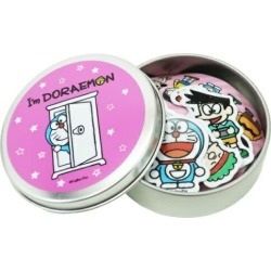 Mini-sticker Sanrio General sticker vinyl sticker six pieces set petit gift animation teens miscellaneous goods mail order marshmallow pop with canned LCC-011 Doraemon