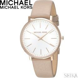 Michael Kors MICHAEL KORS MK2748 clock watch Lady's beige leather