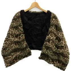 It is コムデギャルソンレオパード pattern shawl docking best gilet AD2008 COMME des GARCONS Lady's until - 9/3 23:59 at 9/2 18:00