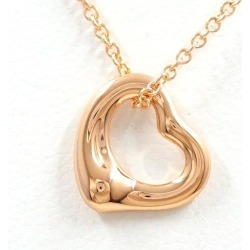 Tiffany open heart K18PG necklace metal box bag used jewelry ★★ giftwrapping for free