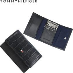 トミーヒルフィガー TOMMY HILFIGER key case key ring men leather KEYCASE black 31TL170003-001
