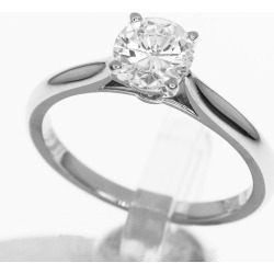 Cartier Cartier diamond (0.62ct F-VVS2) sled tail 1895 ring Ref. N4163600 Pt950 platinum Japan size approximately ten #50 ring Lady's 31210322