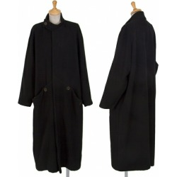 Y's Stand Collar Wool Long Coat