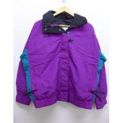Old clothes Lady's nylon Colombia COLUMBIA logo big size purple other purple used outer