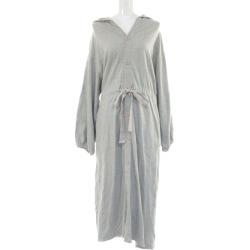 Label etude fleece pile BIG Mods coat long length waist belt /40803002/FREE/ gray /la belle Etude/b190502 ■ 287739