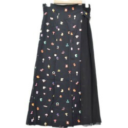 UNDER COVER 19SS Switching Long Pleated Skirt reshuffling long pleated skirt black size: 2 (under cover)