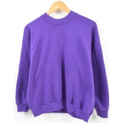 Lady's L /wbe8486 in the 90s made in Fruit of the Loom FRUIT OF THE LOOM plain fabric sweat shirt trainer USA