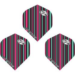 Red Dragon Hardcore Multi Black & Pink Stripe Dart Flights standard (dart flight)