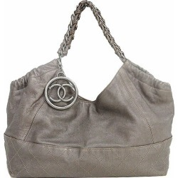 CHANEL (Chanel) luxury chain bag shoulder gray system leather netshop