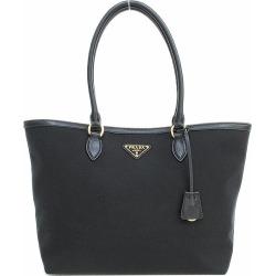 PRADA (Prada) tote bag shoulder 1BG158 black black canvas X leather netshop