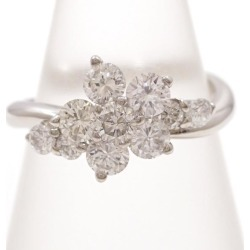 PT900 platinum ring 6.5 diamond 1.01 card differentiation book used jewelry ★★ giftwrapping for free
