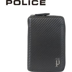 POLICE LUCENTE ROUND SHORT WALLET police wallet mini-wallet men round fastener leather black black PA-70202 [7/26 Shinnyu load]