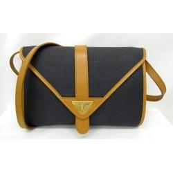 Yves Saint Laurent Yves Saint-Laurent one shoulder bag clutch bag 2WAY dark gray brown Lady's bag bag Higashiosaka store 318447 RYB2024
