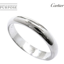 Cartier Cartier classical music 3.5mm in width #53 ring Pt950 platinum ring