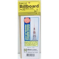 Blair Line 1516 HO TV Broadcast Tower Lasercut Kit