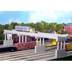 Rix Products 628-0112 HO 50' Modern Highway Overpass w/1 Pier found on Bargain Bro India from Trainz for $13.79