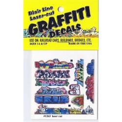 Blair Line 1263 N Graffiti Decals Mega Set #14 found on Bargain Bro India from Trainz for $4.32