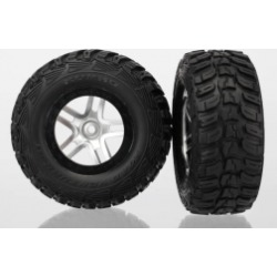 Traxxas 6874 Split Spoke Wheel & Kumho Tire (2): 4WD Front / Rear, 2WD