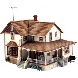 Woodland Scenics PF5196 HO Scale Corner Porch House Building Kit