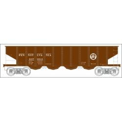 Bowser 41205 HO Pennsylvania Railroad H21 4-Bay Hopper with Clamshell