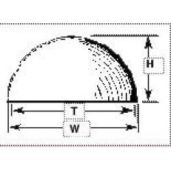 Plastruct 95843 VHH-16 Hemispherical Head Domes
