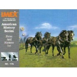 Imex 776 1:32 Confederate Horses & Harness Civil War Set