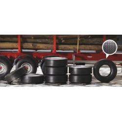 Italeri 3890 1:24 Rubber Trailer Tires (8)