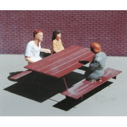 609440 N Picnic Tables Etched Metal