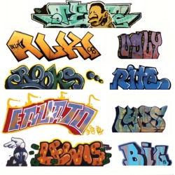 Blair Line 2245 HO Graffiti Decals Mega Set #2 (9) found on Bargain Bro India from Trainz for $5.19